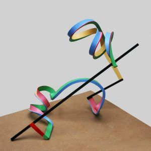 """Streamer 10"" - Original Artwork by Frans Muhren"