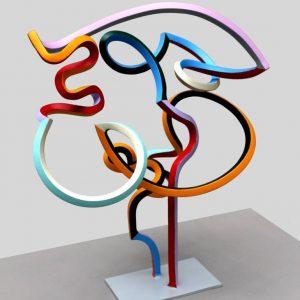"""Streamer Head 5"" - Original Artwork by Frans Muhren"