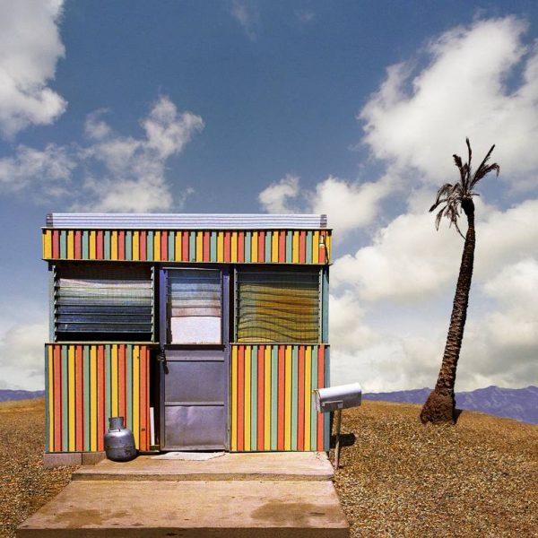 """Striped Trailer, Desert Shores CA - Edition 5 Of 9"" - Original Artwork by Ed Freeman"