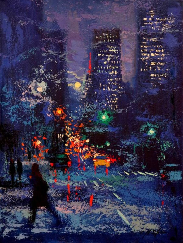 """""""The Moon over Empire State Building"""" - Open Edition Print by Chin h Shin"""