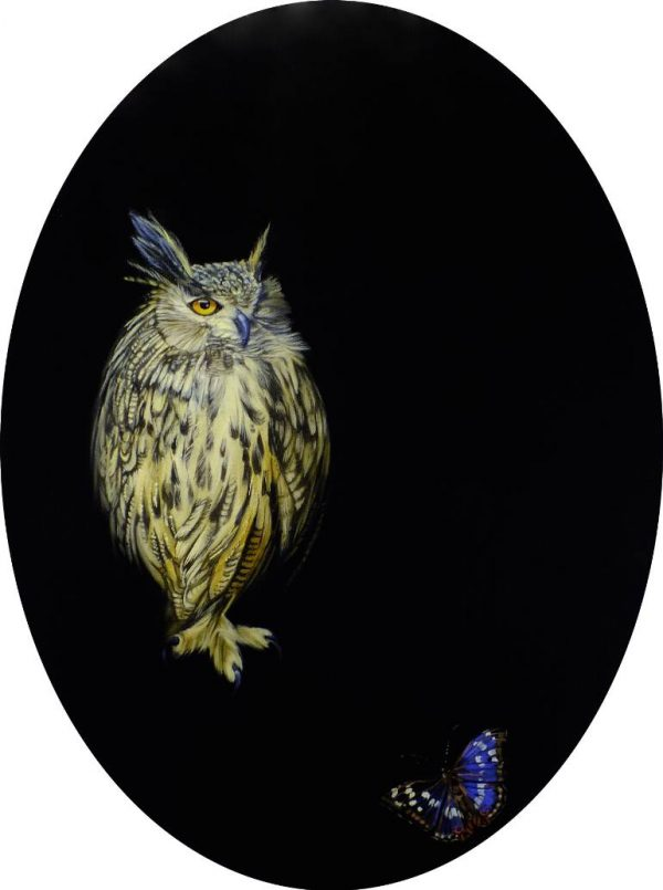 """""""The Owl and the Emperor"""" - Open Edition Print by Lara Cobden"""