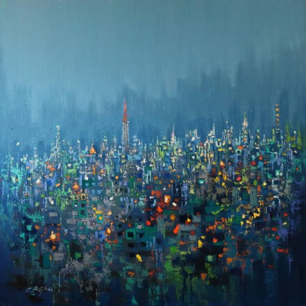 """""""URBAN FOREST- Evening Low Cloud"""" - Open Edition Print by Chin h Shin"""