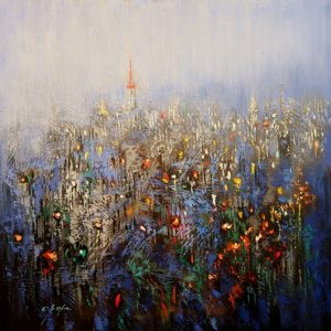 """""""Urban Forest Blue"""" - Open Edition Print by Chin h Shin"""