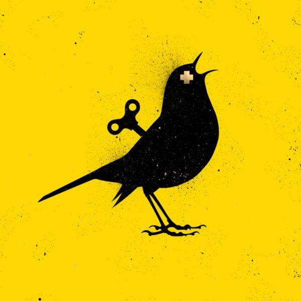 """""""VEEBEE The Clockwork Bird YELLOW Original Painting"""" - Open Edition Print by VeeBee VeeBee"""