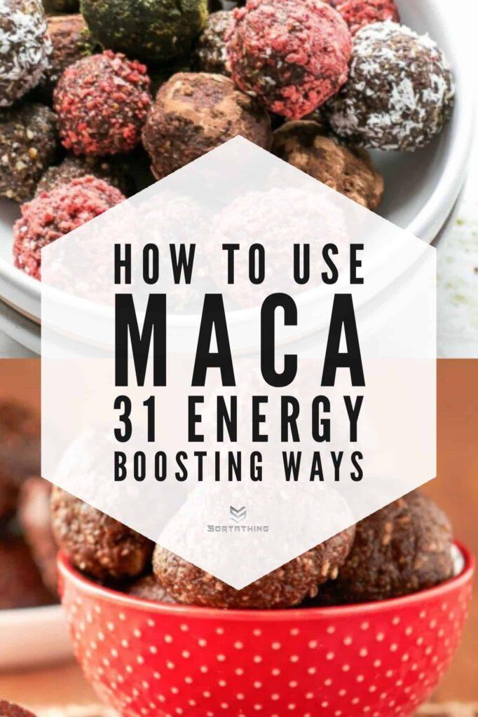 Raw Prune & Maca Truffles Recipe & Cacao Maca Superfood Bites