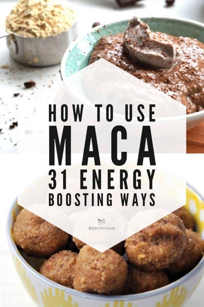 Maca Mocha Chia Pudding & Banana Nut Maca Energy Bites