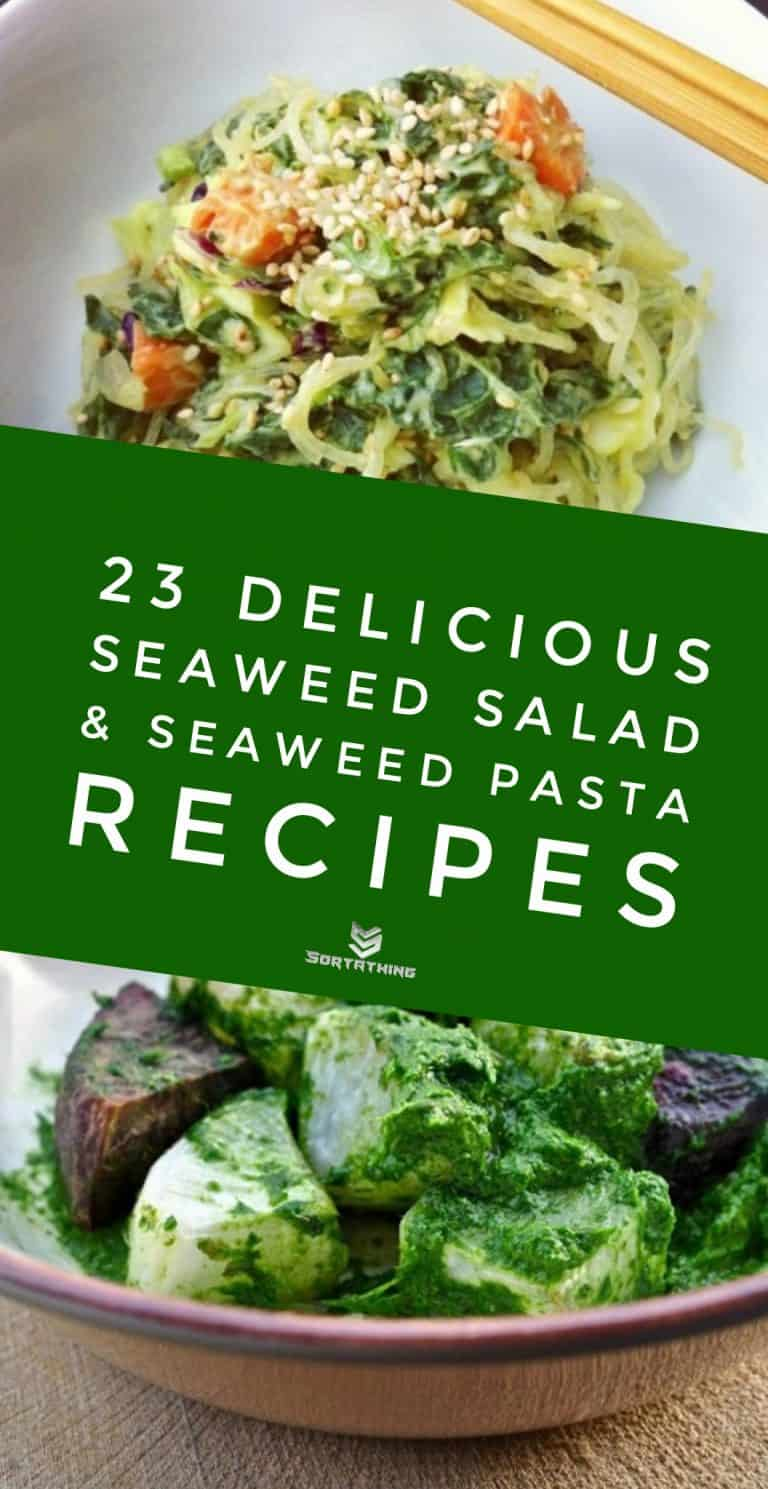 Kelp Noodles with Avocado Miso & Wild Garlic & Seaweed Pesto