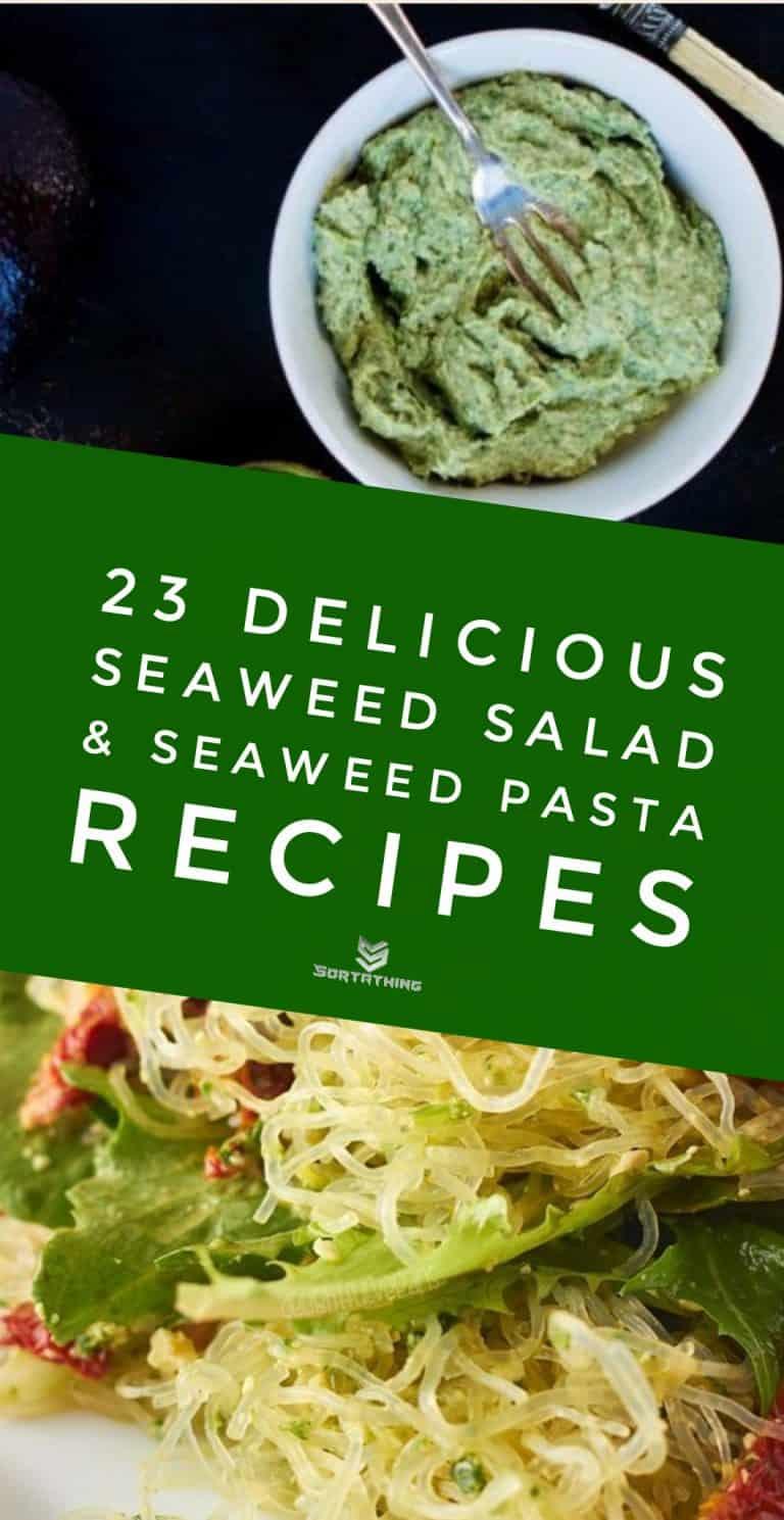 Avocado & Seaweed Hummus & Pesto Kelp Noodle Salad