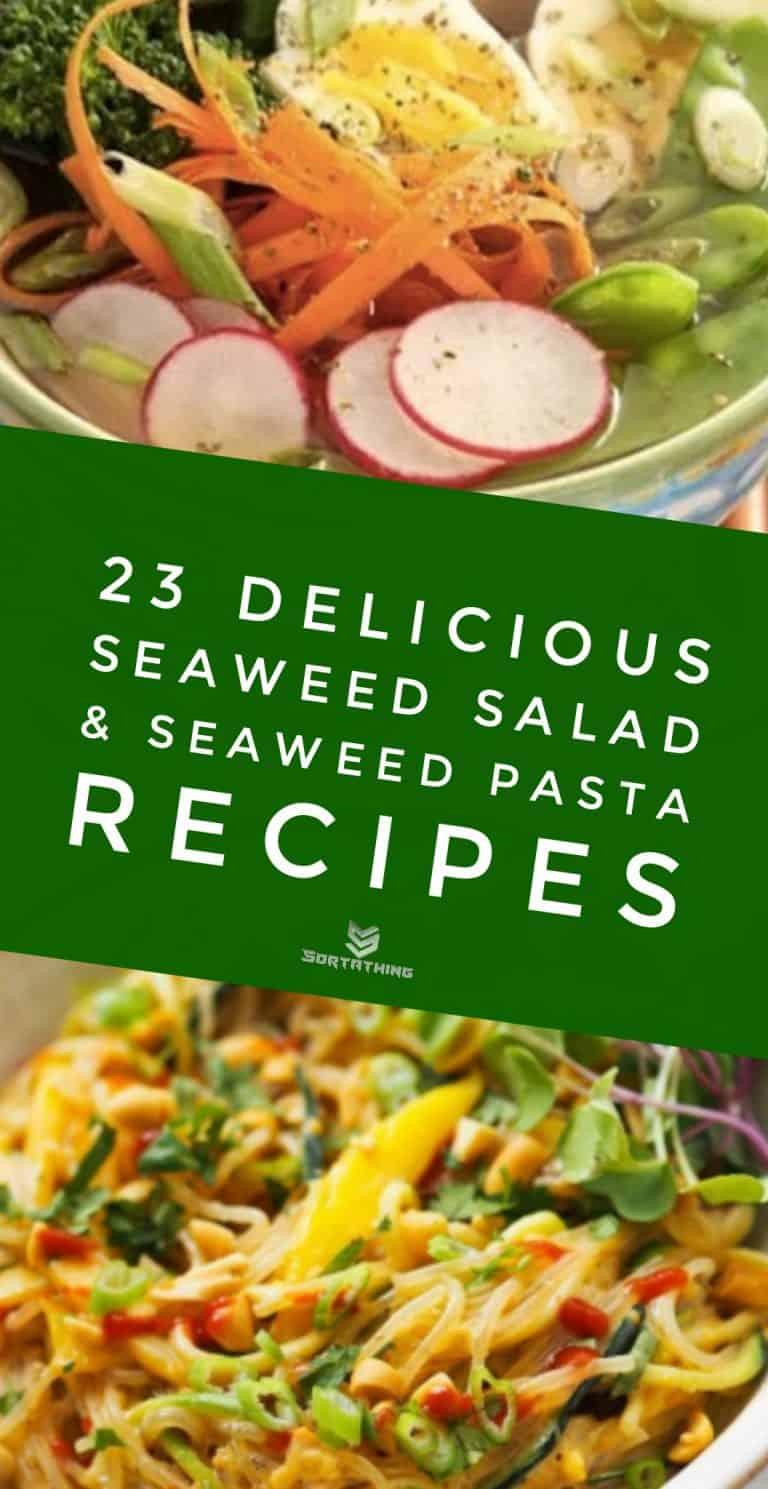 Low-Carb Kelp Noodle Ramen & Kelp Noodle & Mango Salad with Peanut Dressing