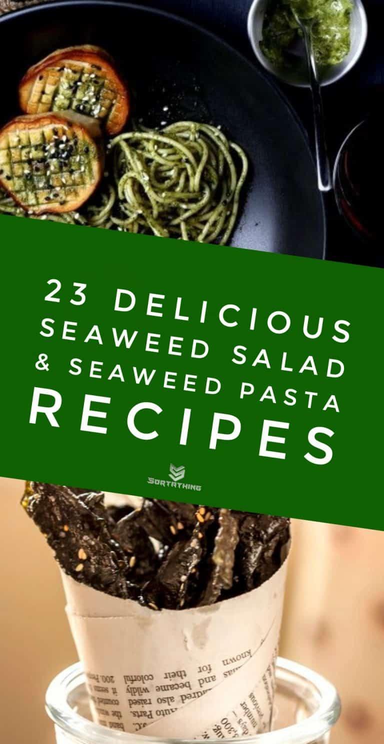 Pasta with Seaweed-Matcha Butter & Vegan Scallops & Spicy Sesame Nori