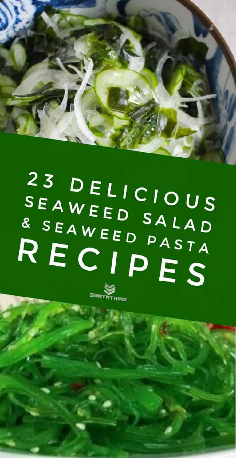 Cucumber Wakame Seaweed Salad & Goma Wakame Salad