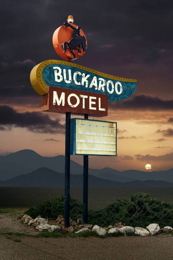"""Buckaroo Motel, Tucumcari New Mexico Edition of 9"" - Original Artwork by Ed Freeman"