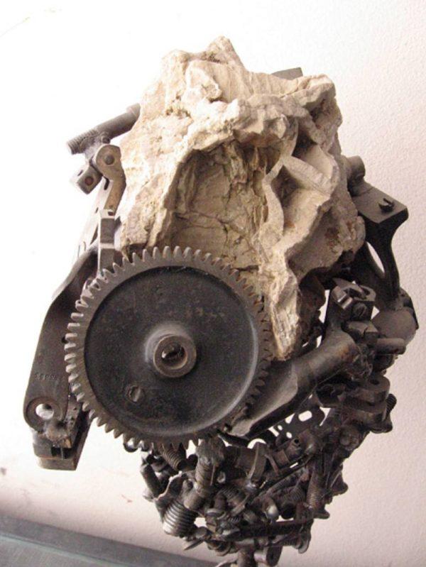 """FOSSIL HEAD"" - Original Artwork by Marcelo Bohm"