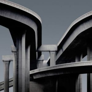 """Freeway Interchange Edition of 9"" - Original Artwork by Ed Freeman"