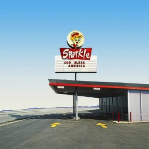 """Sparkle - God Bless America, Bakersfield, CA. Edition of 9"" - Original Artwork by Ed Freeman"