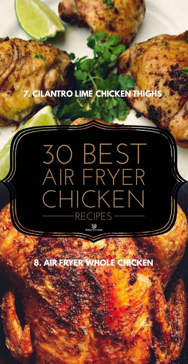 Air Fryer Cilantro Lime Chicken Thighs