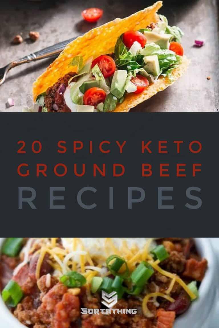 Keto recipe ground beef tacos & chorizo chilli