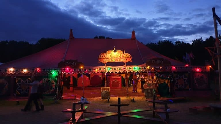 Lizard Stage Chai Tent Glastonbury 2019
