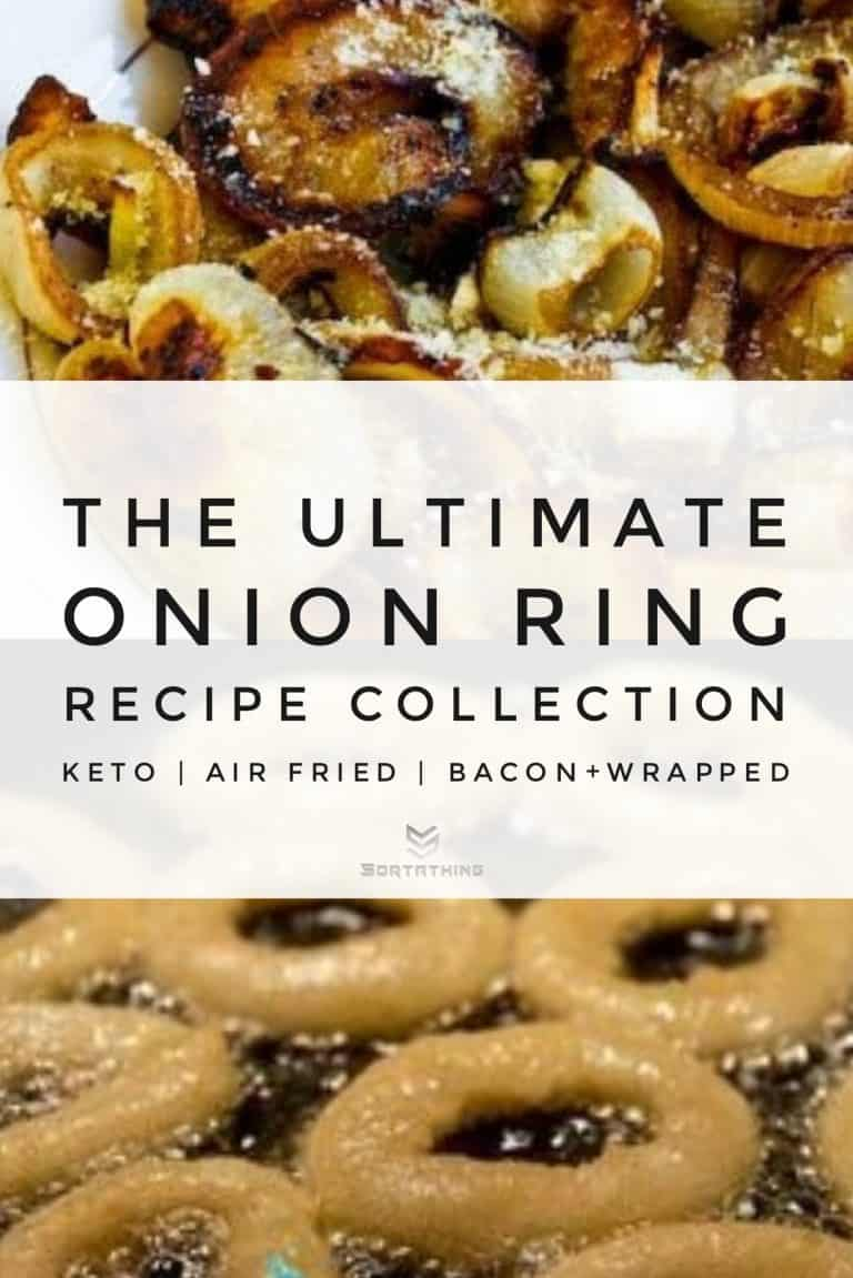 Vidalia Onion Rings with Parmesan & Keto-Friendly Battered Onion Rings with Almond Flour