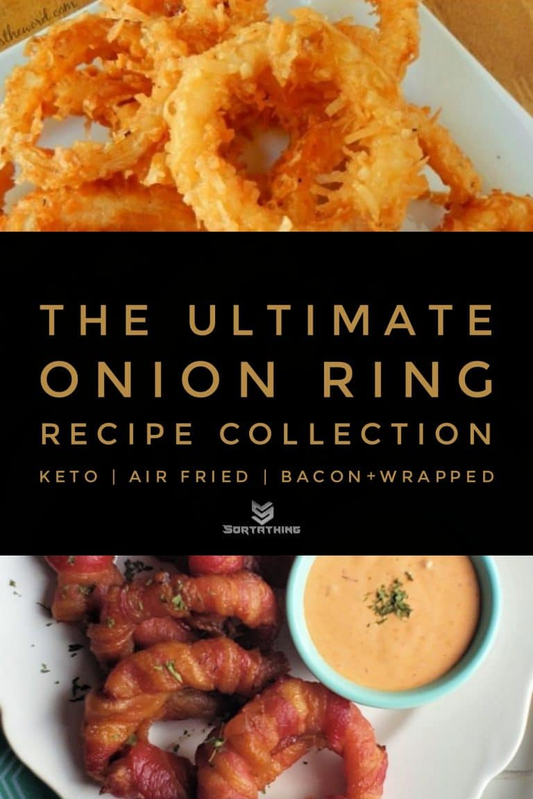 Crispy Coconut Onion Rings & Bacon Onion Rings with Adobe Aoili