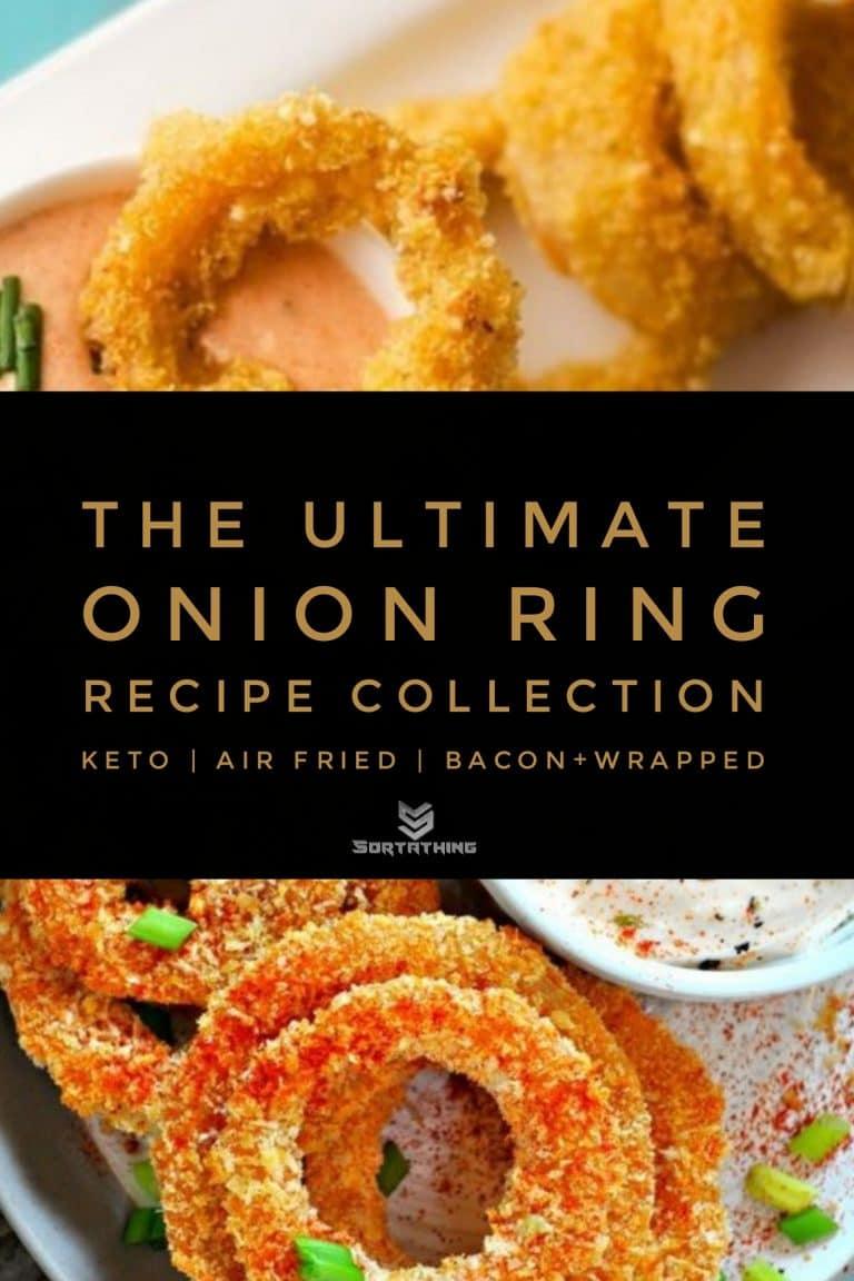 Quinoa Crusted Onion Rings & Vegan Buffalo Onion Rings