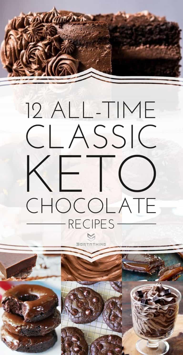 Keto Chocolate Recipes - Keto fudge, cake, ice cream & Cookies