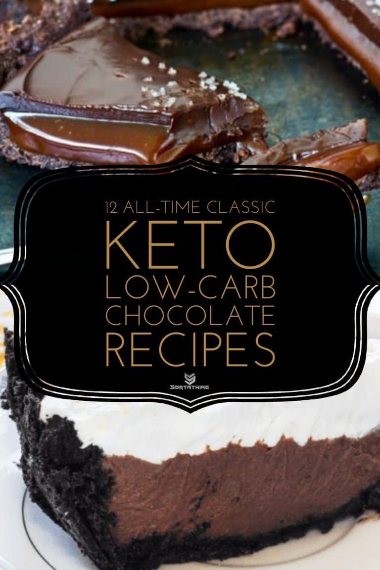 Keto Chocolate Recipe Caramel Cake & Keto Chocolate Cream Pie
