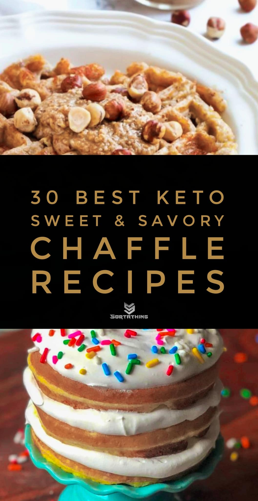 Peanut Butter Chaffle Recipe and Keto Birthday Cake Chaffle Recipe