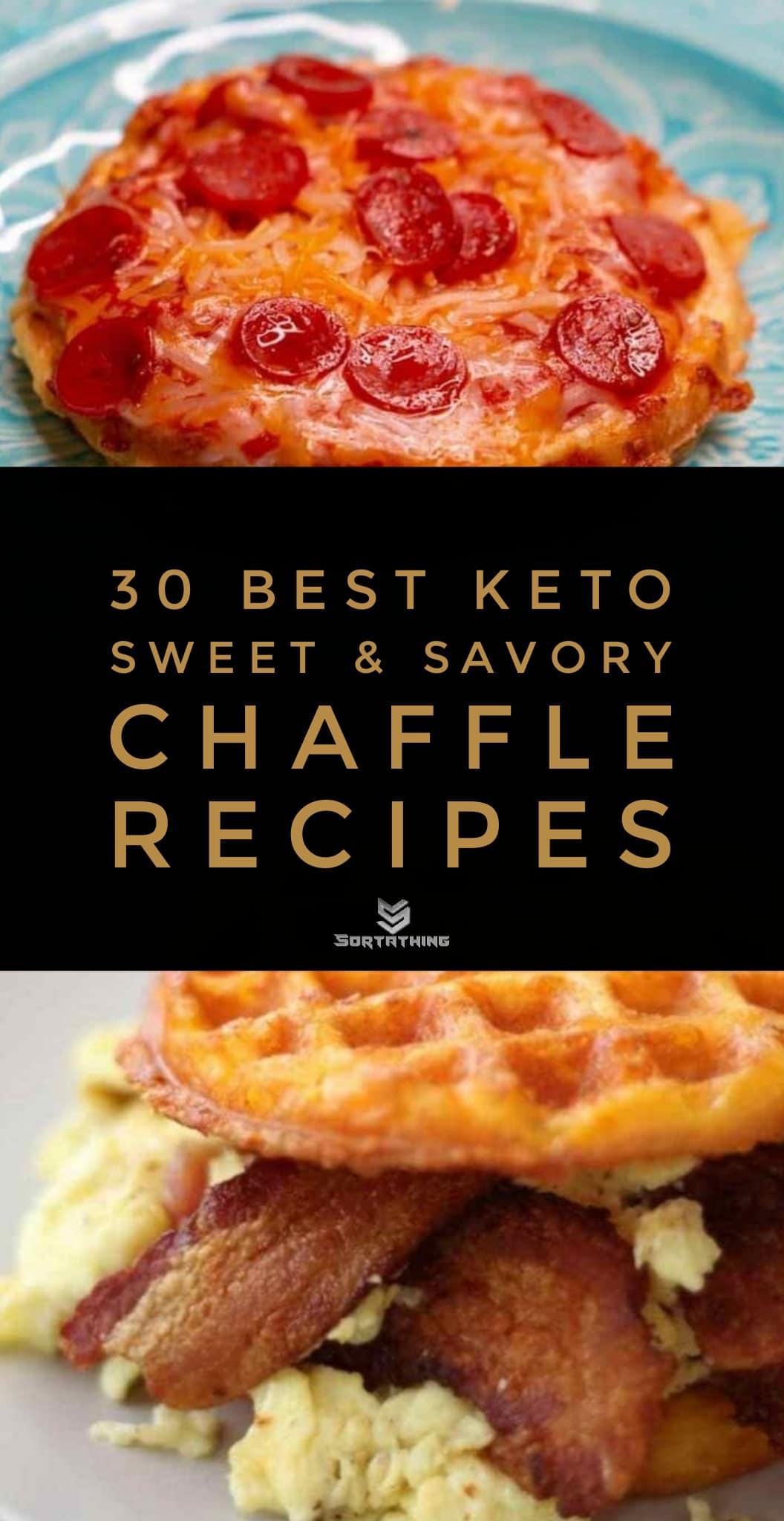 Keto Pizza Chaffle and Chaffle Breakfast Sandwich Bread