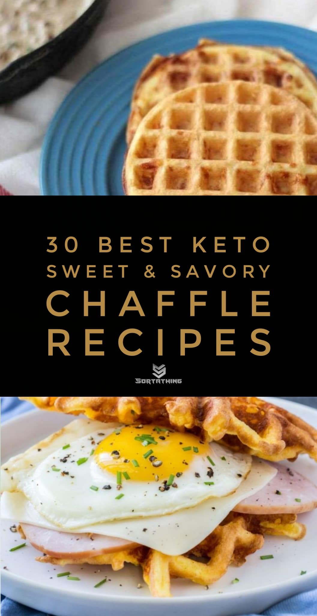 Sausage Gravy Chaffle and The Best Grain-Free Keto Chaffle Recipe