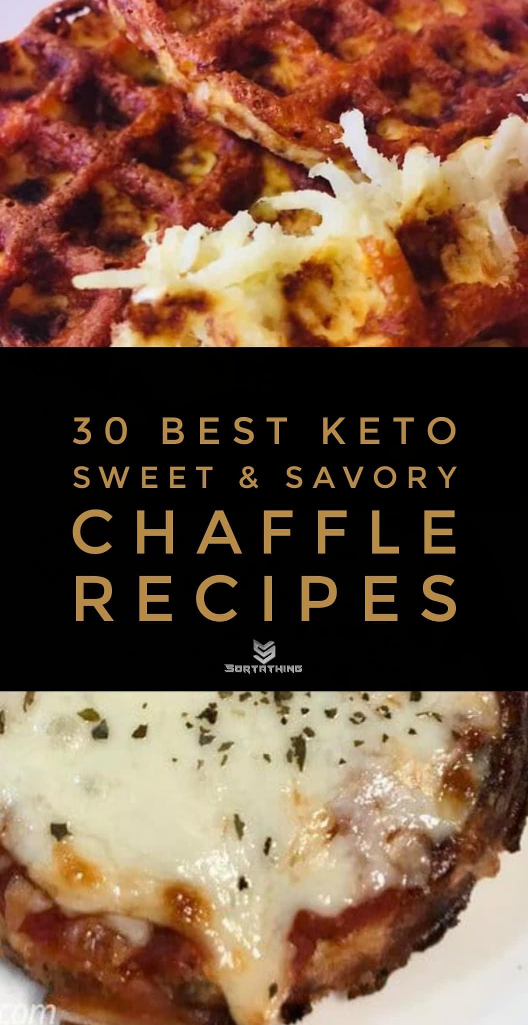 Jicama Hash Brown Chaffle & Chicken Parmesan Chaffle