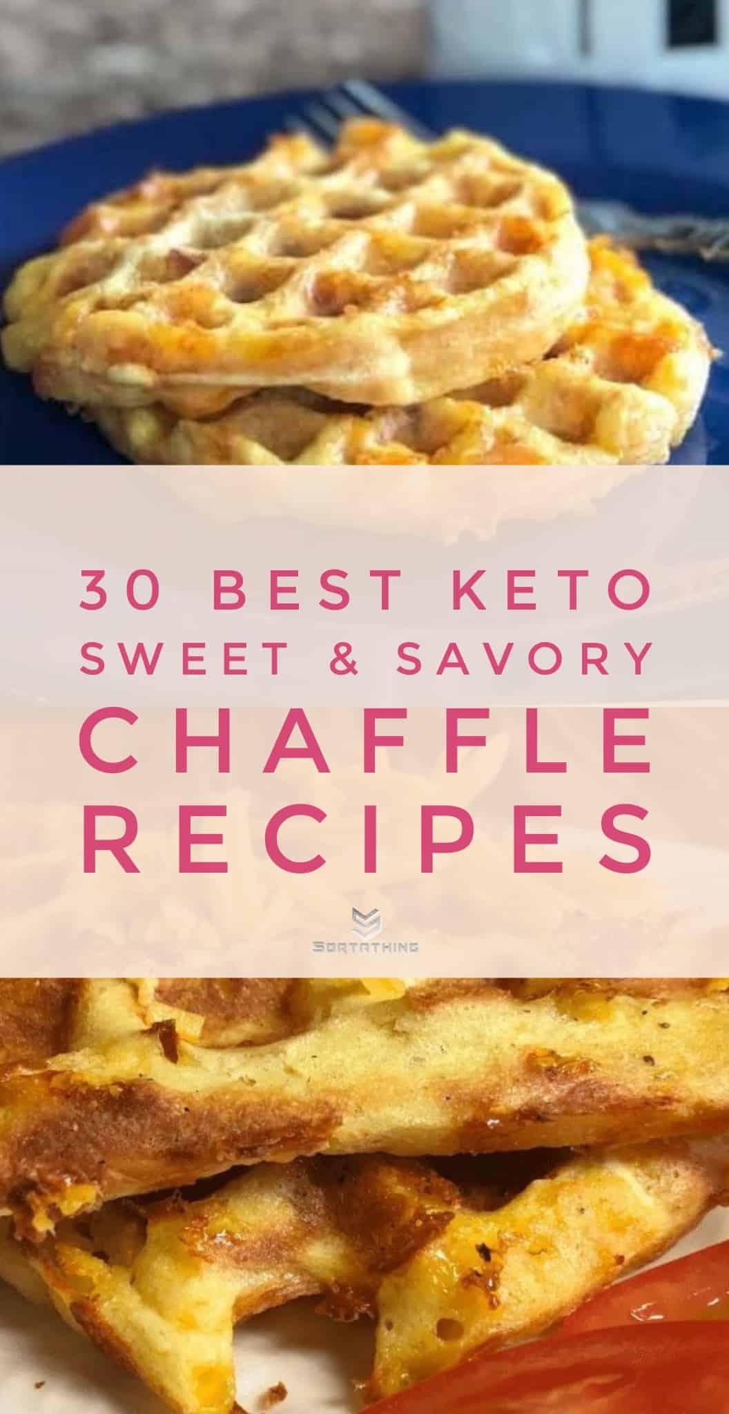 Keto Bacon, Egg & Cheese Chaffles and Jalapeno & Cheddar Chaffles