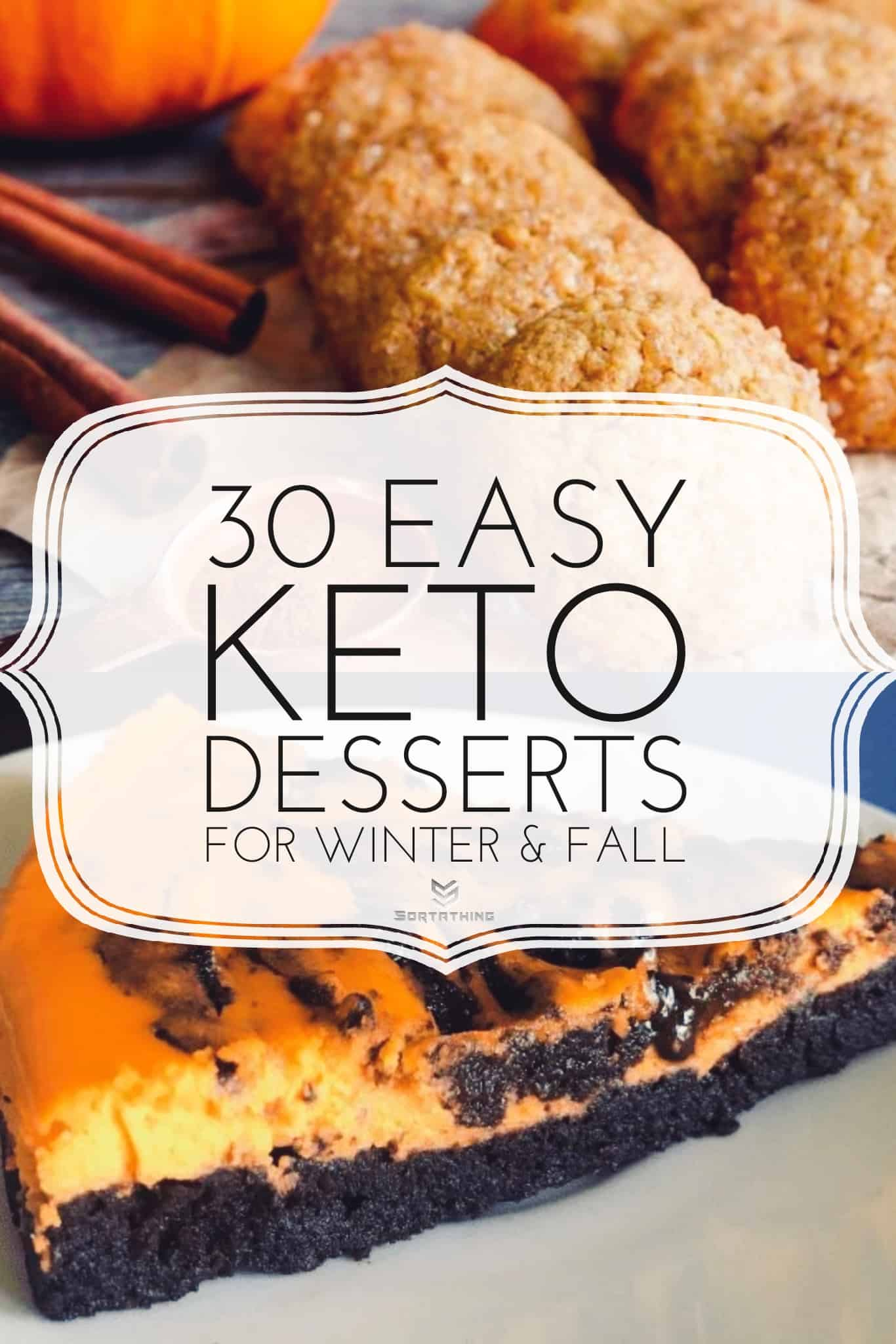 The Best Keto Pumpkin Spice Cookies and Decadent Halloween Brownie Cheesecake
