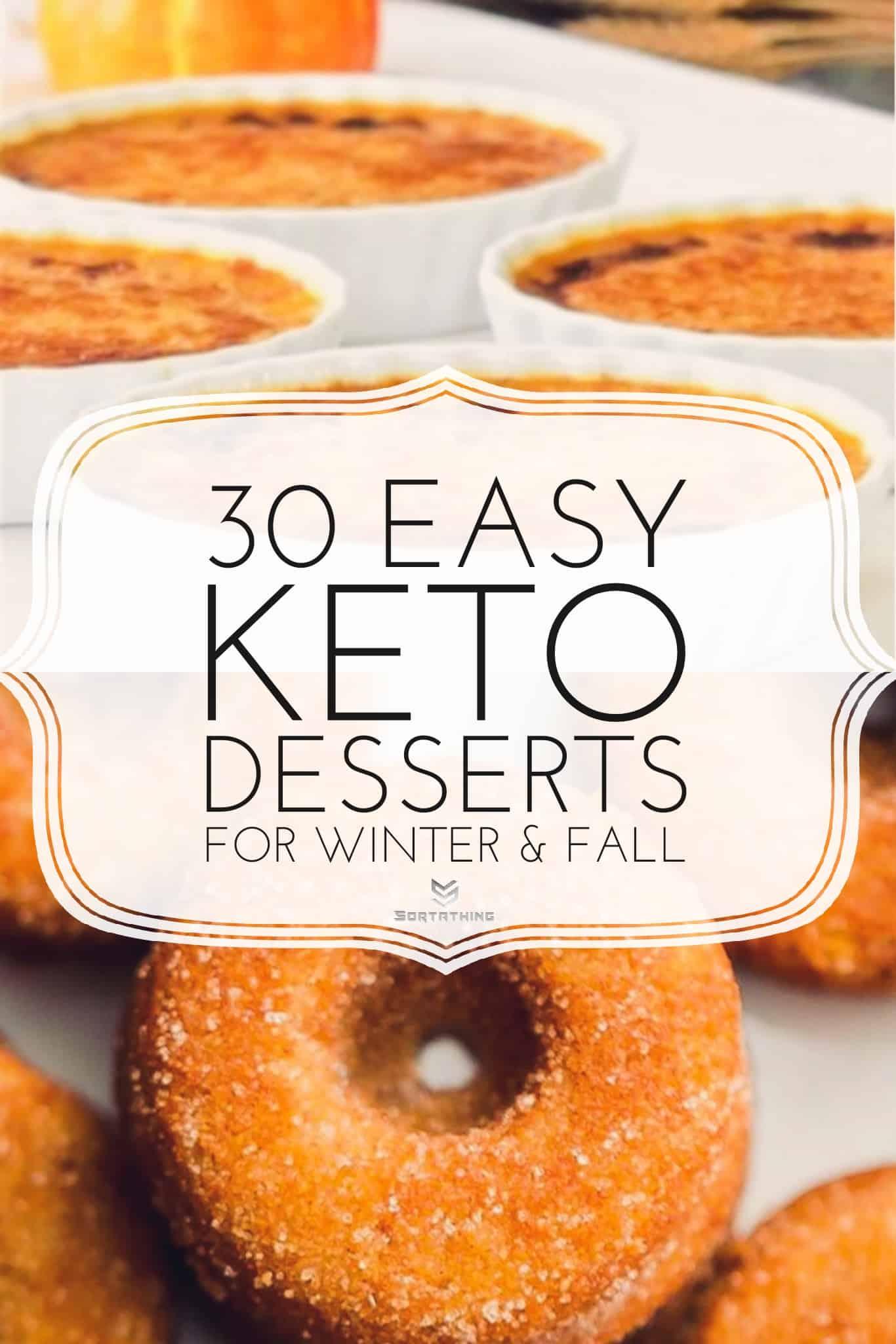 Pumpkin Spice & Bourbon Keto Crème Brûlée and Keto Pumpkin Donuts