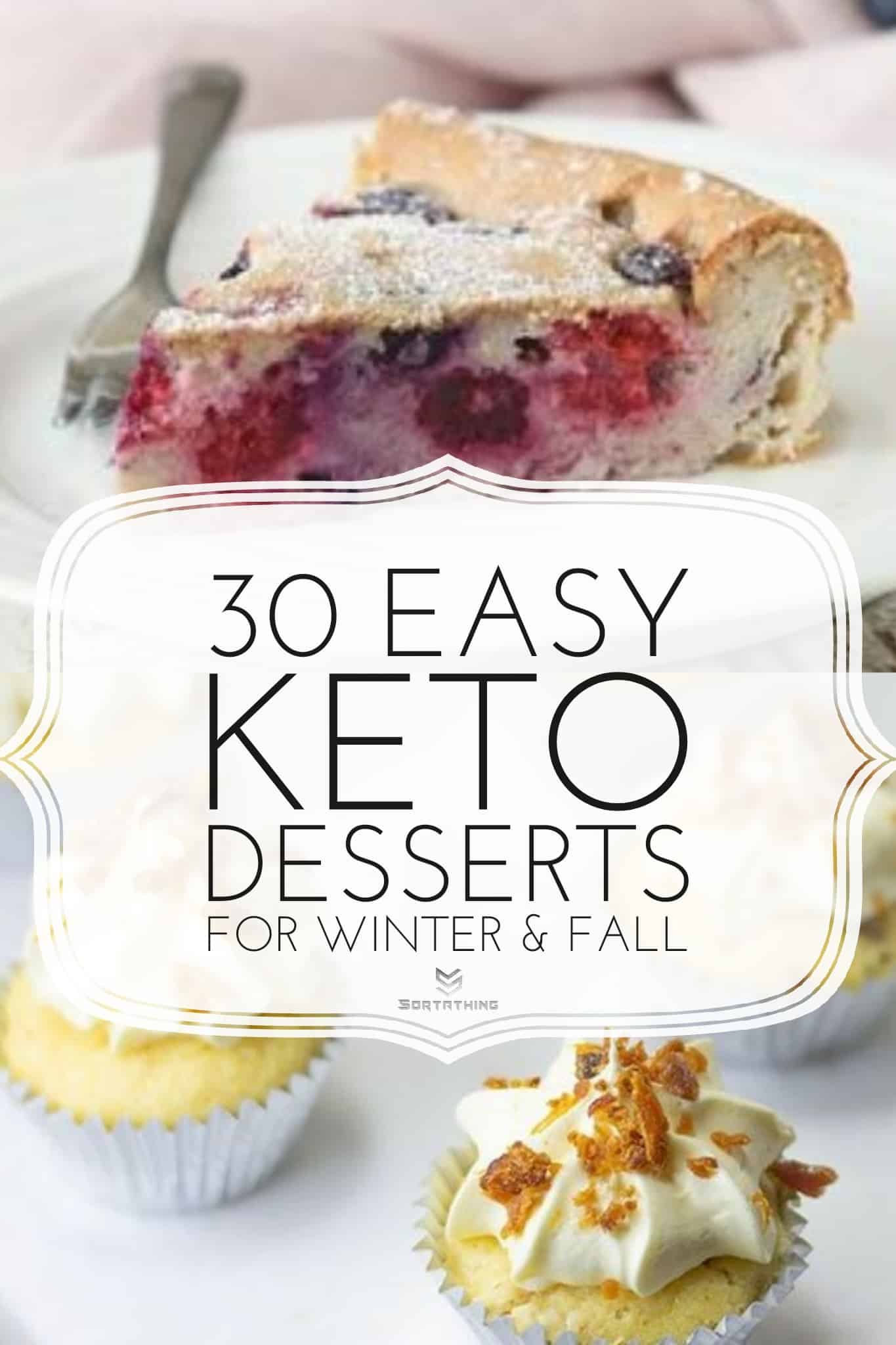 Keto Triple Berry Clafoutis and Keto Maple & Bacon Cupcakes