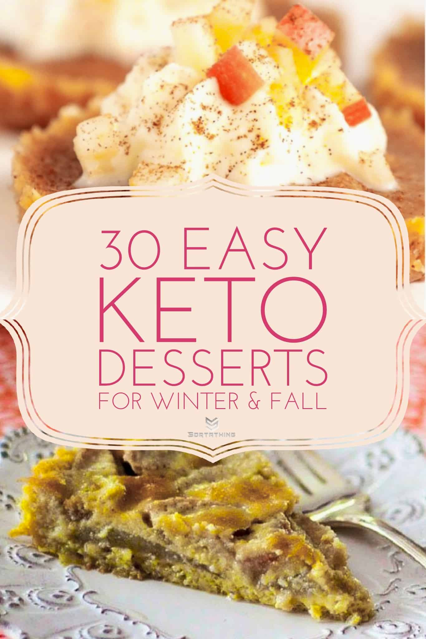 Keto Apple Pie Fat Bombs and Low-Carb Pear Custard Pie