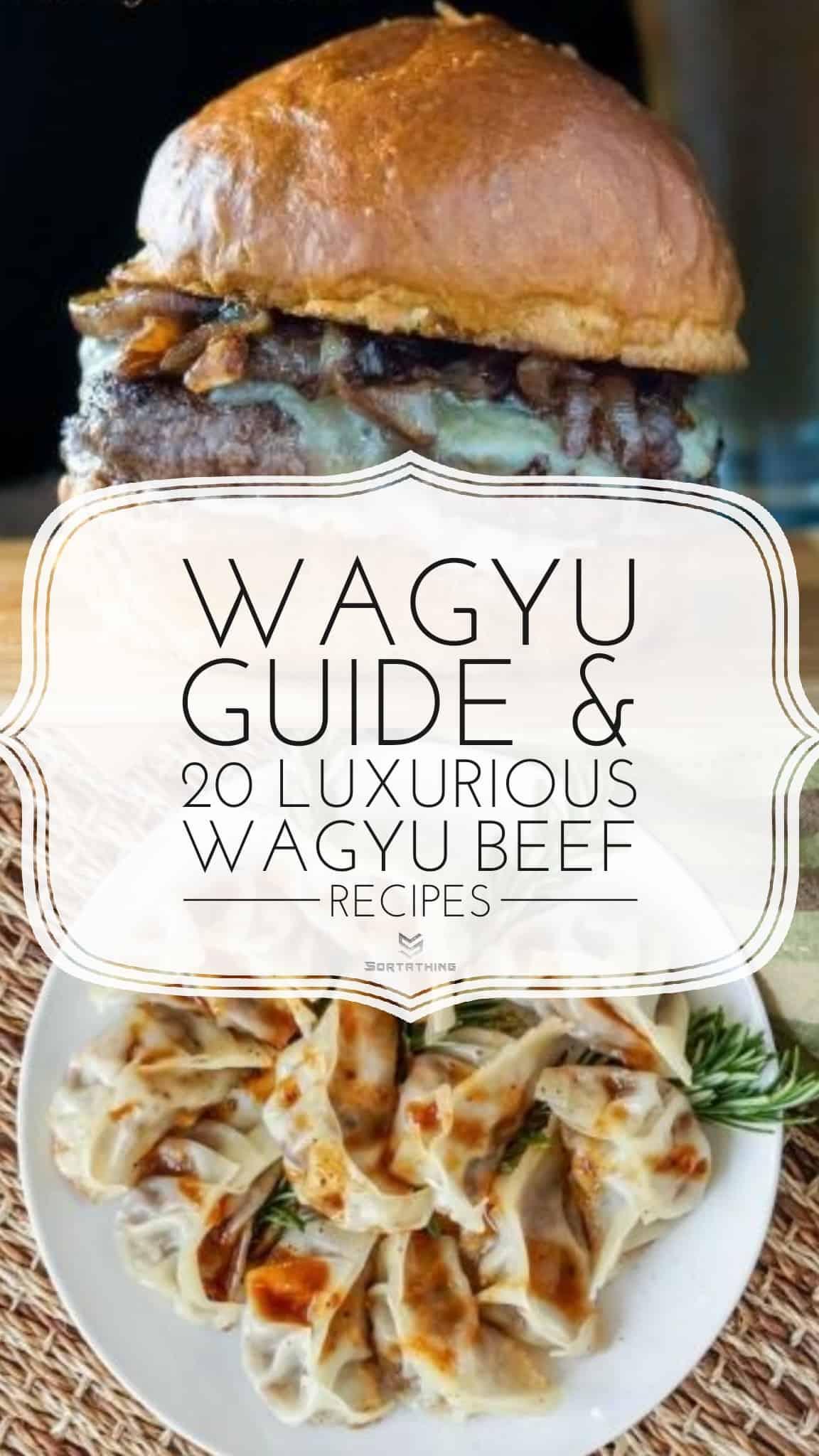 Wagyu Beefburger and Wagyu Beef Gyoza Dumplings