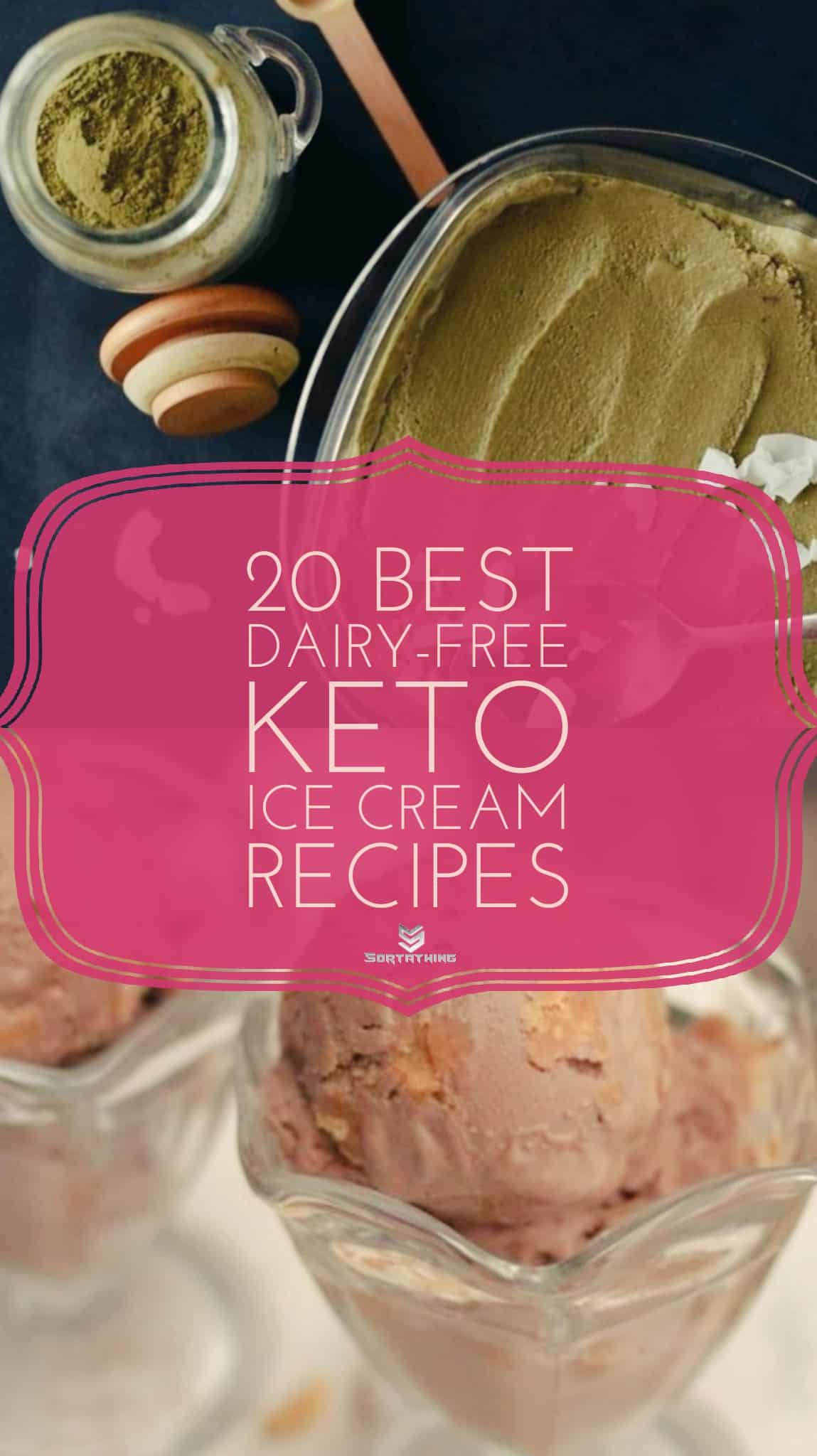 Keto Matcha  Superfood Ice Cream and Dairy-Free Bulletproof Chocolate Peanut Butter Ice Cream