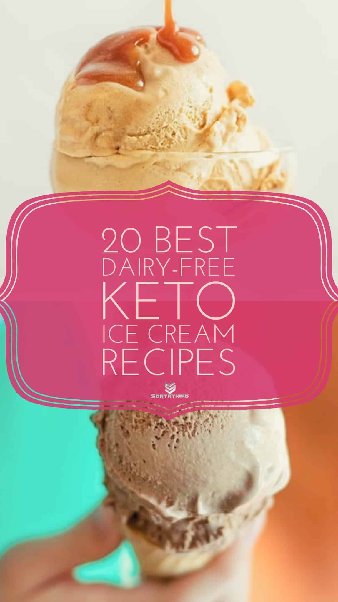No-Churn Keto Salted Caramel Ice Cream and Dairy-Free No Churn Chocolate Ice Cream