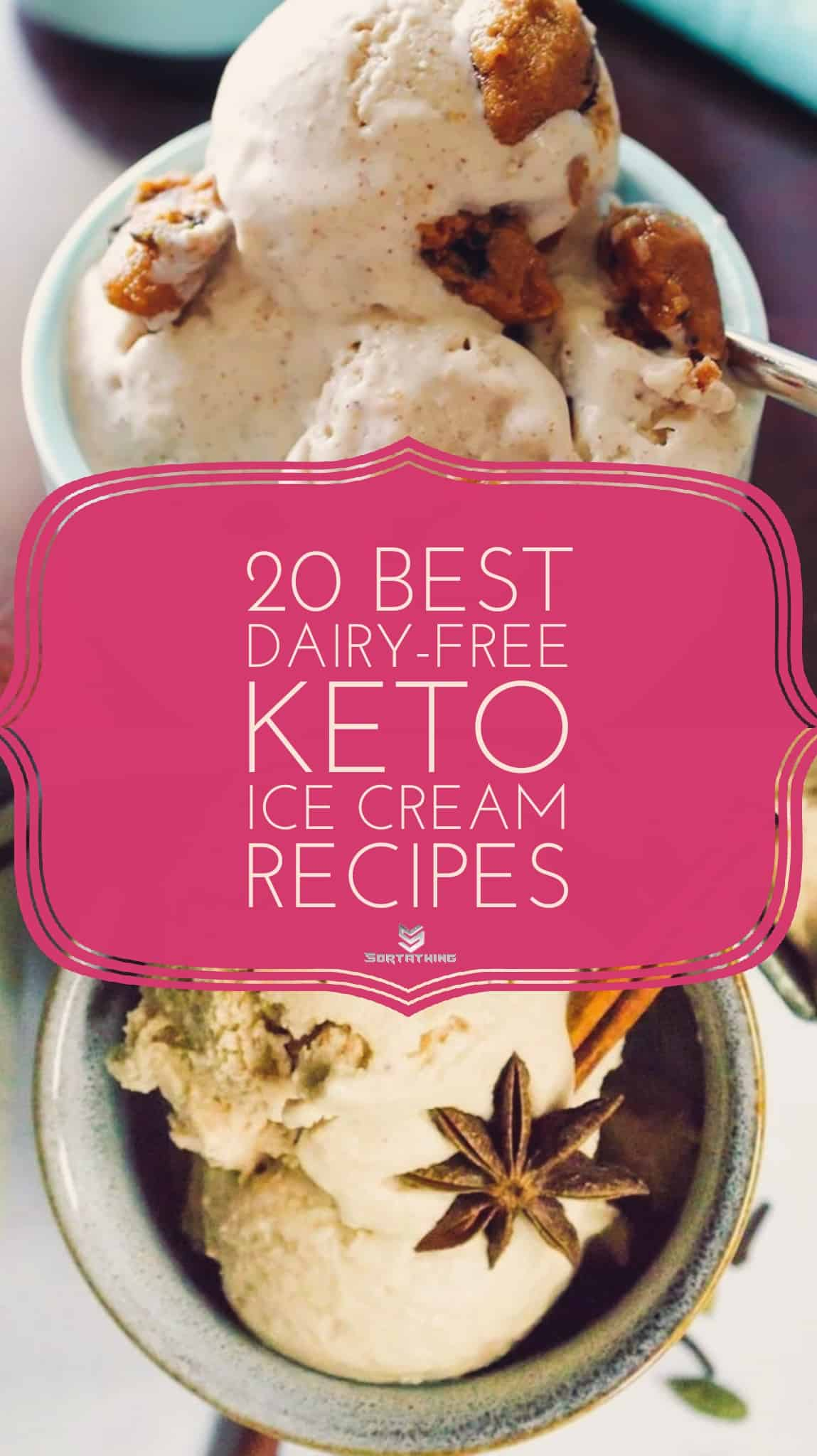 Low-Carb Keto Cookie Dough Ice Cream and Keto Chai Ice Cream