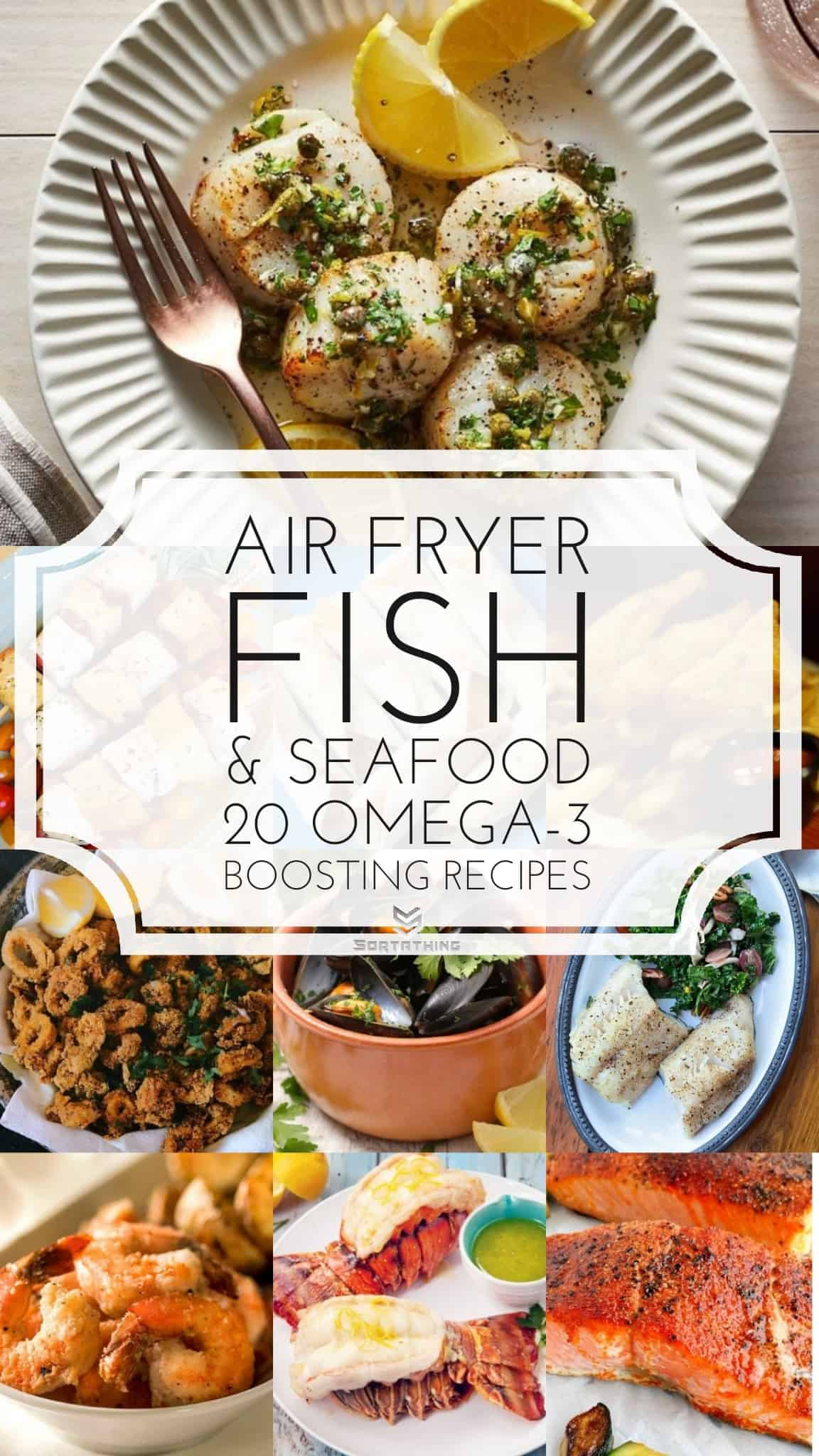 Air Fryer Recipes Fish & Seafood - Omega-3 Booster
