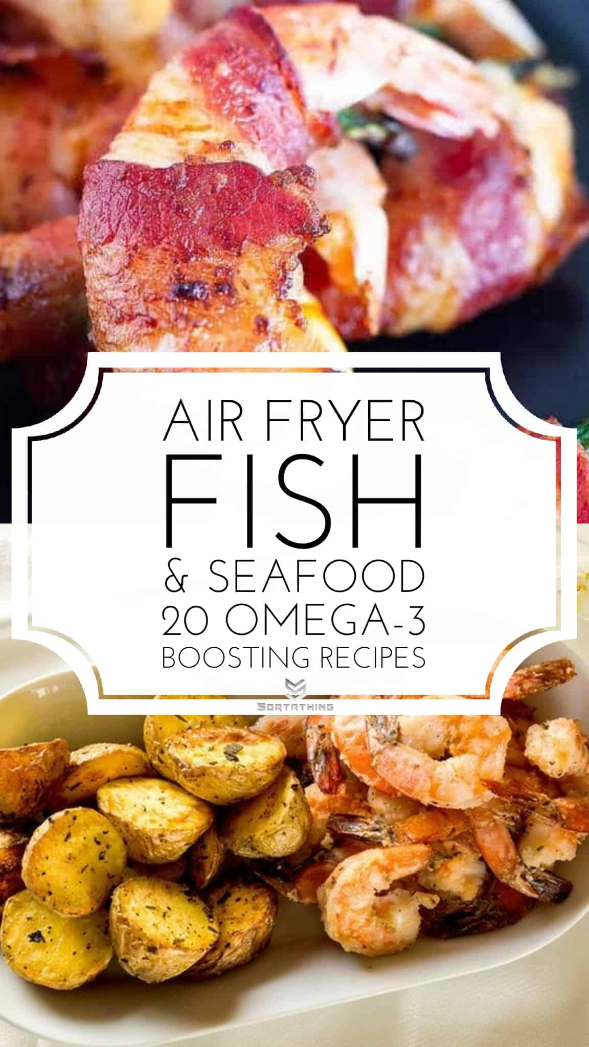 Air Fryer Bacon Wrapped Shrimp & Air Fryer Salt & Pepper Shrimp