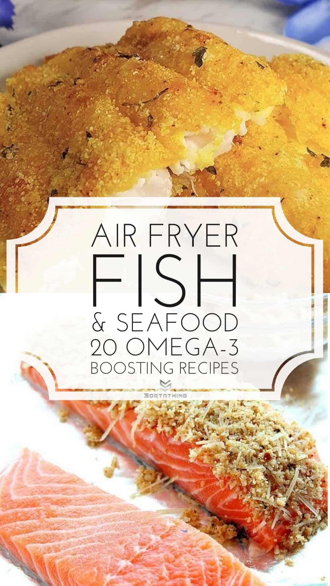 Air Fryer Southern Fried Catfish and Garlic & Parmesan Crusted Salmon