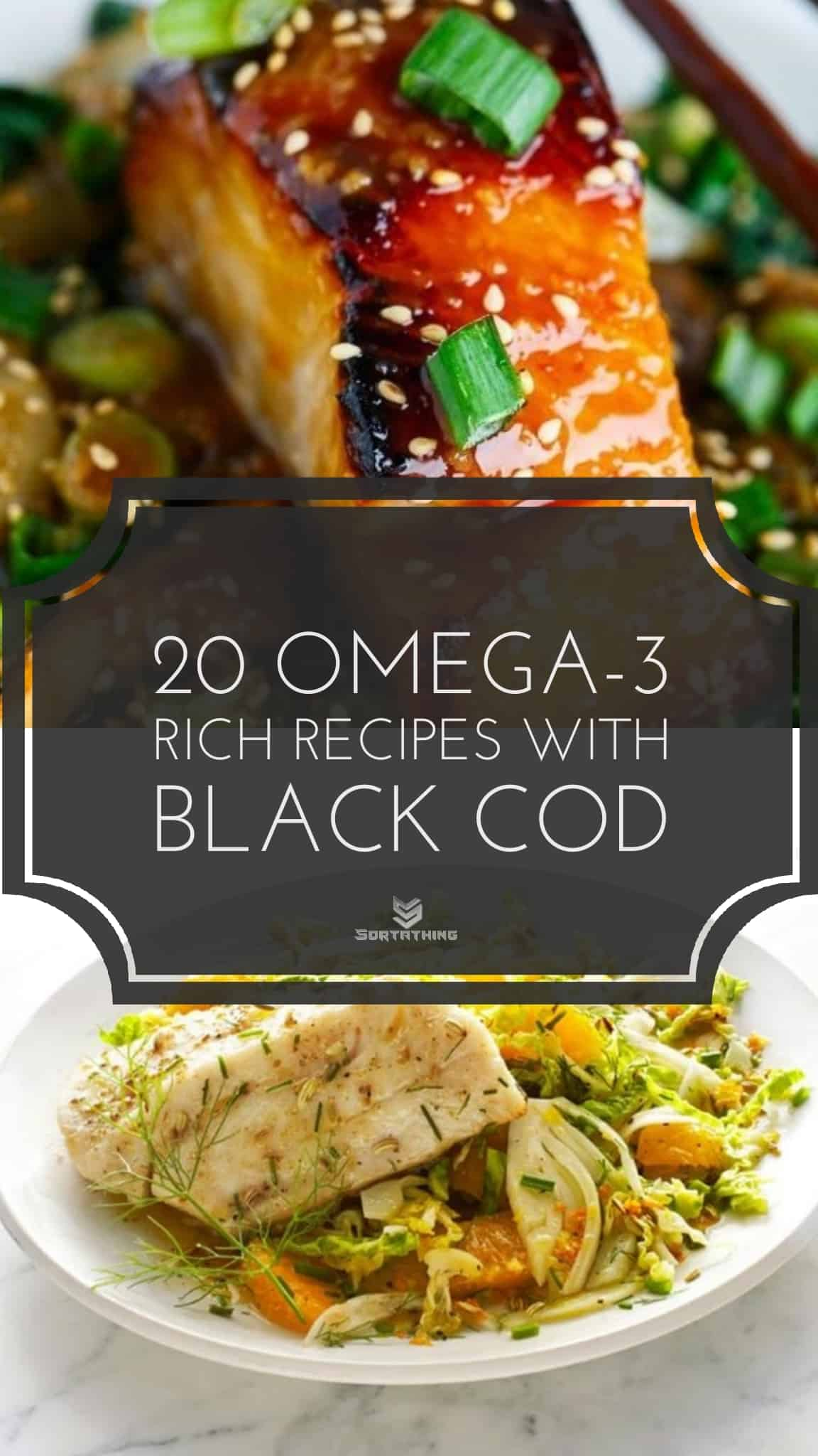 Miso Glazed Black Cod on Baby Bok Choy & Sablefish with Fennel Slaw