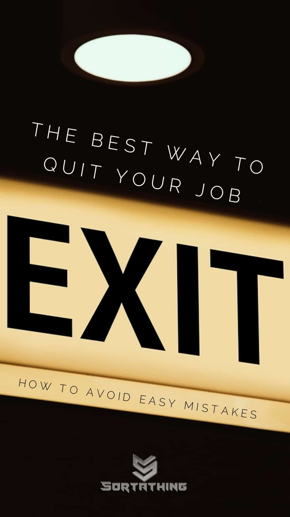 How to quit a job - the best way to resign