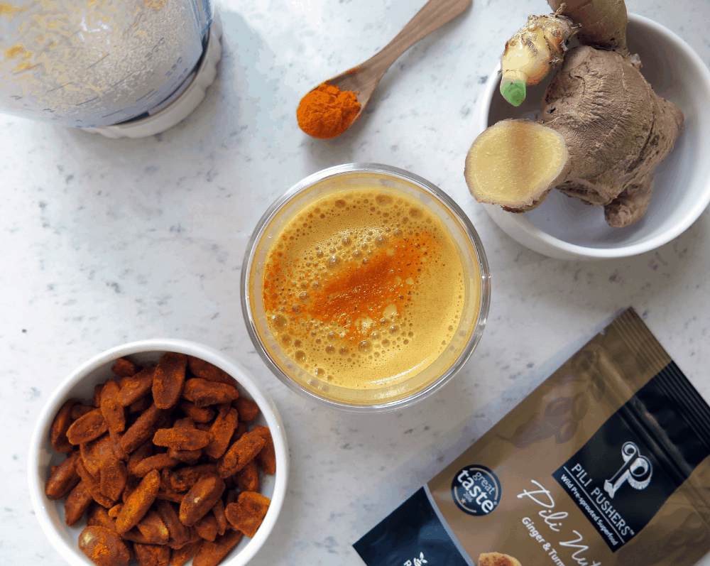 Golden Pili Milk and Turmeric Latte