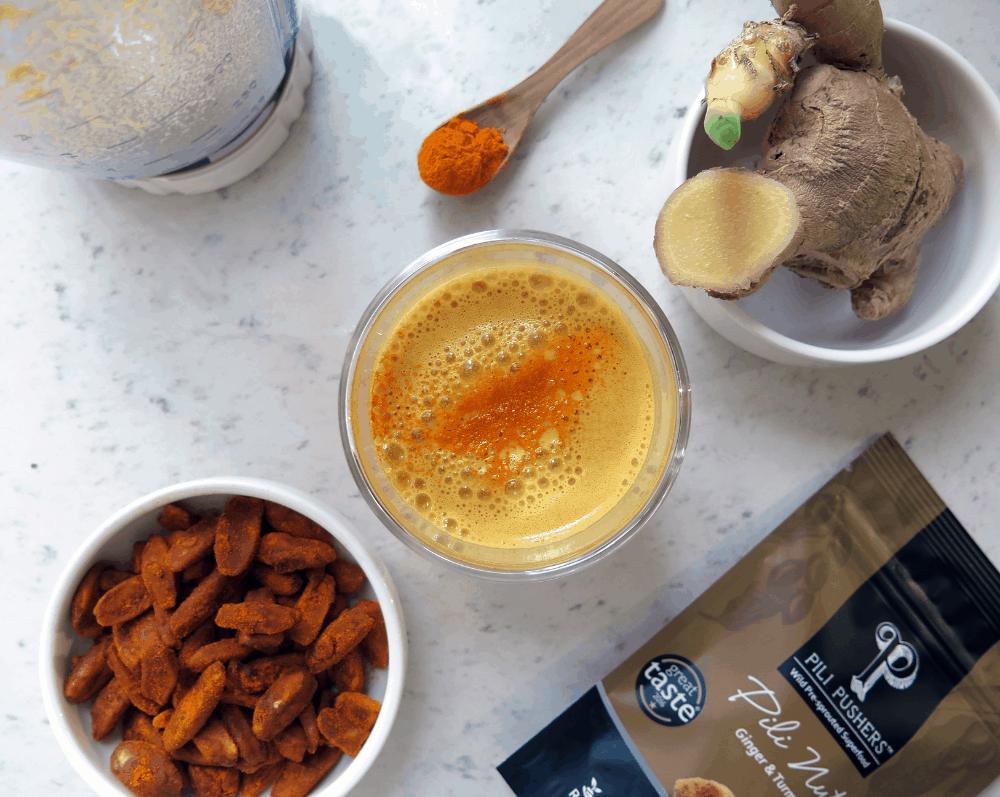 Golden Pili Milk and Turmeric Latte