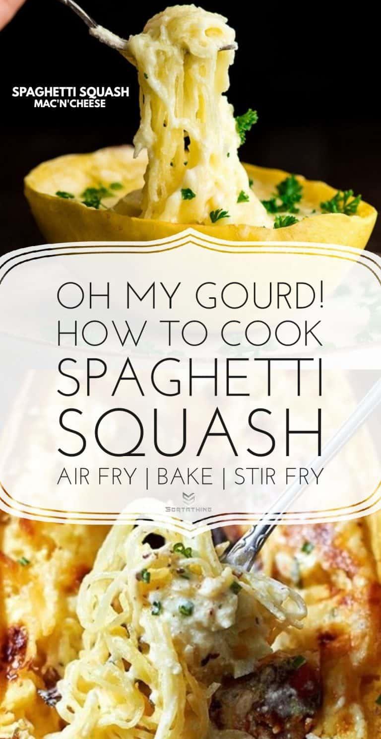 Spaghetti Squash Mac'n'Cheese