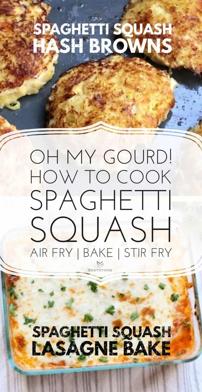 Spaghetti Squash Hash Browns & Lasagne