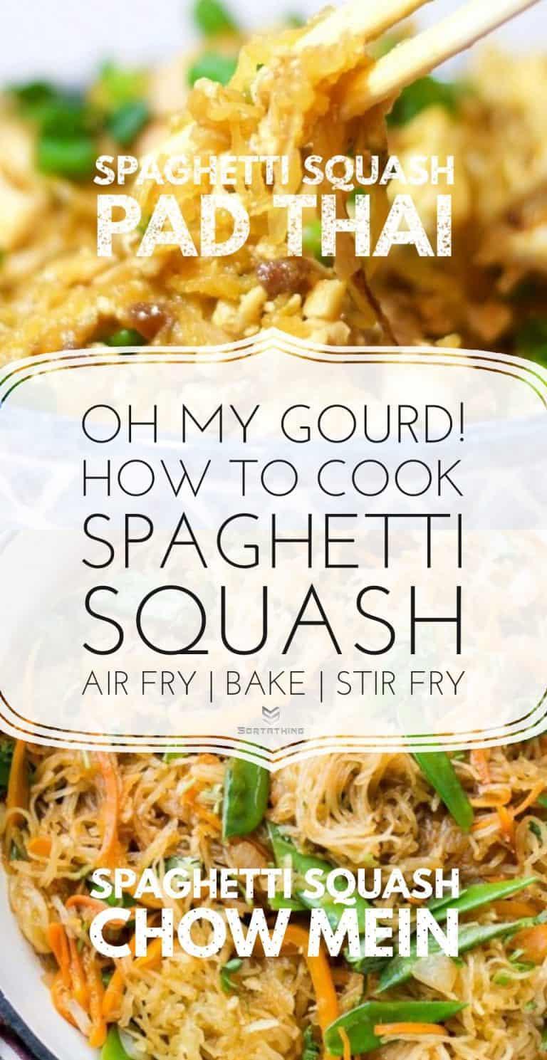 Spaghetti Squash Pad Thai & Chow Mein